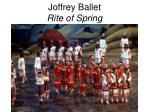 joffrey ballet rite of spring