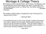 montage collage theory
