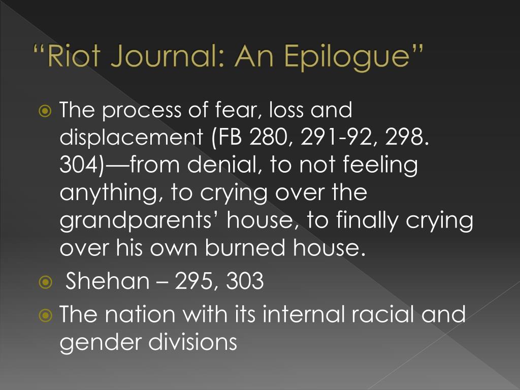 """Riot Journal: An Epilogue"""