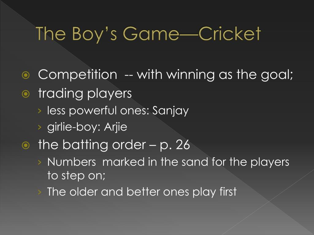 The Boy's Game—Cricket