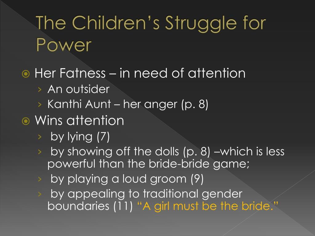 The Children's Struggle for Power