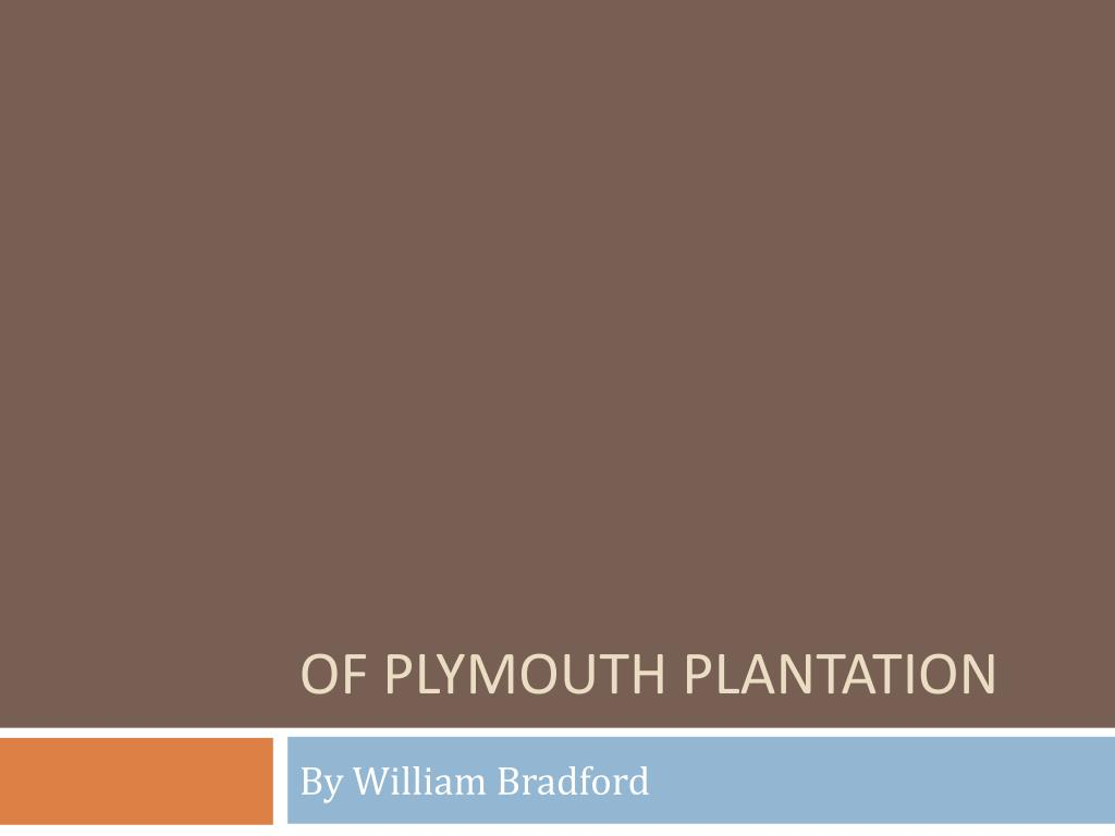 of plymouth plantation l.