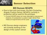 sensor selection15