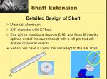 shaft extension
