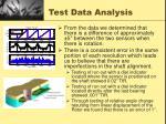test data analysis
