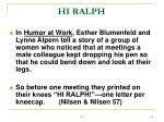 hi ralph