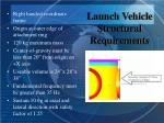 launch vehicle structural requirements