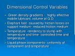 dimensional control variables