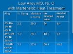 low alloy mo ni c with martensitic heat treatment11