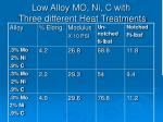 low alloy mo ni c with three different heat treatments13