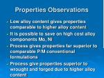 properties observations