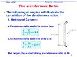 the slenderness ratio6
