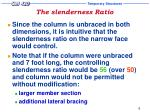 the slenderness ratio7