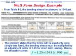 wall form design example13