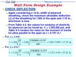 wall form design example16