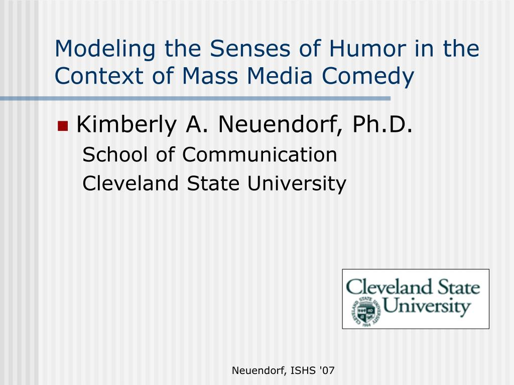 modeling the senses of humor in the context of mass media comedy l.