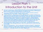 lesson plan 1 introduction to the unit