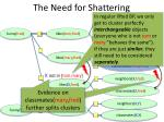 the need for shattering12
