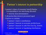partner s interest in partnership