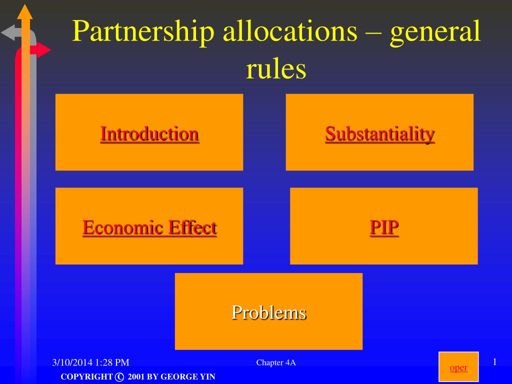 partnership allocations general rules l.