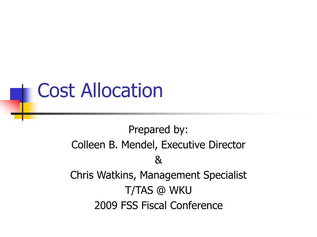 cost allocation l.