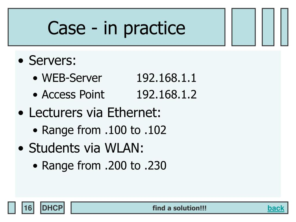 Case - in practice