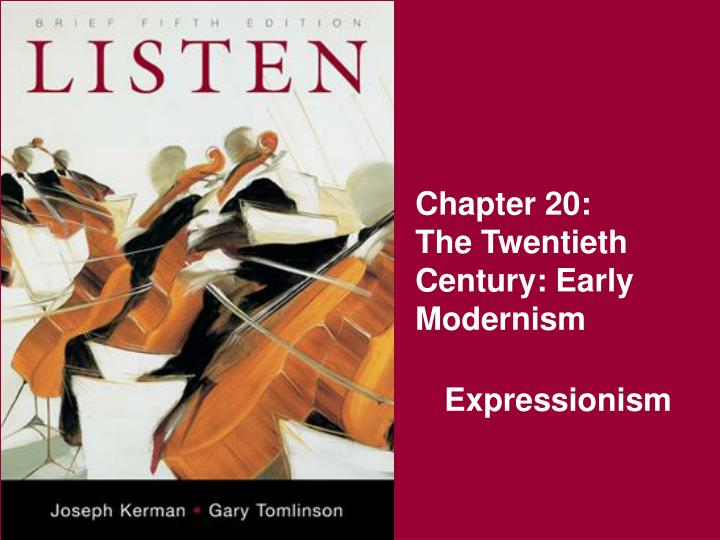 chapter 20 the twentieth century early modernism n.
