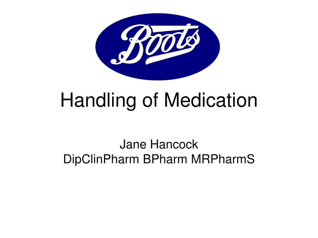 handling of medication l.