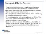 key aspects of service recovery
