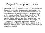 project description cont d