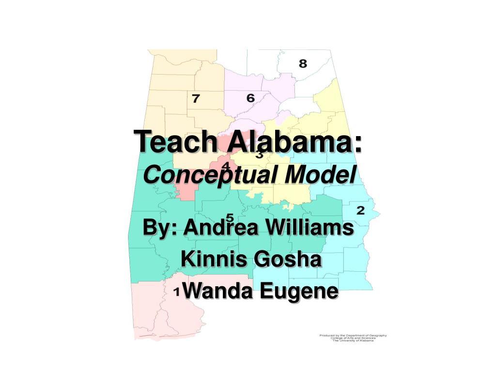 teach alabama conceptual model l.