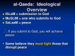 al qaeda ideological overview
