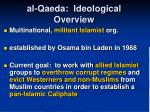 al qaeda ideological overview6