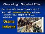 chronology snowball effect16