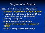 origins of al qaeda