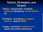 tactics strategies and targets