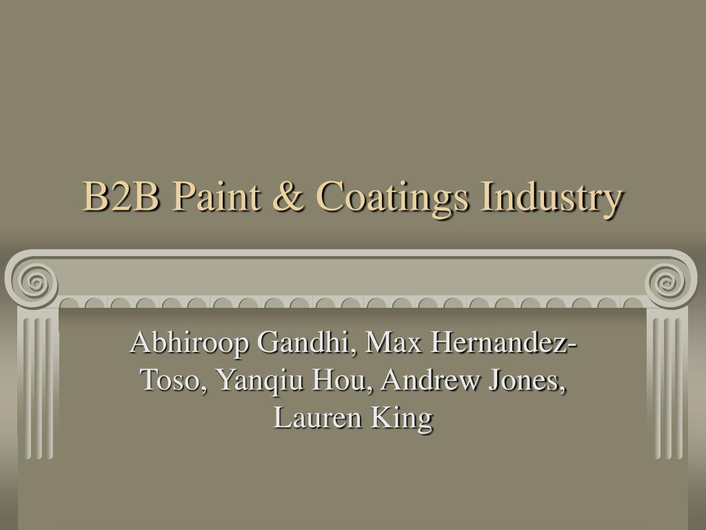 b2b paint coatings industry l.