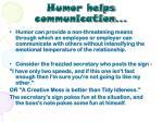 humor helps communication