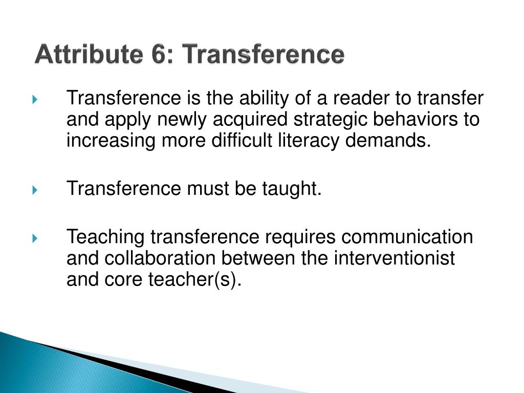 Attribute 6: Transference