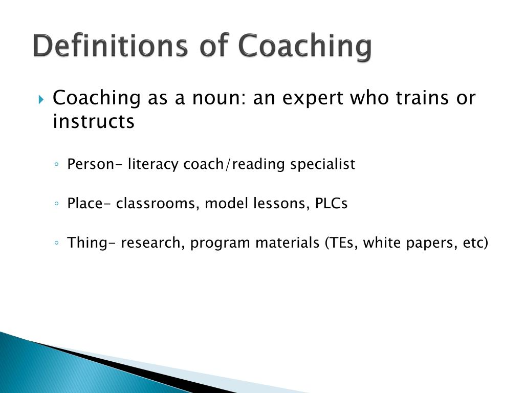 Definitions of Coaching