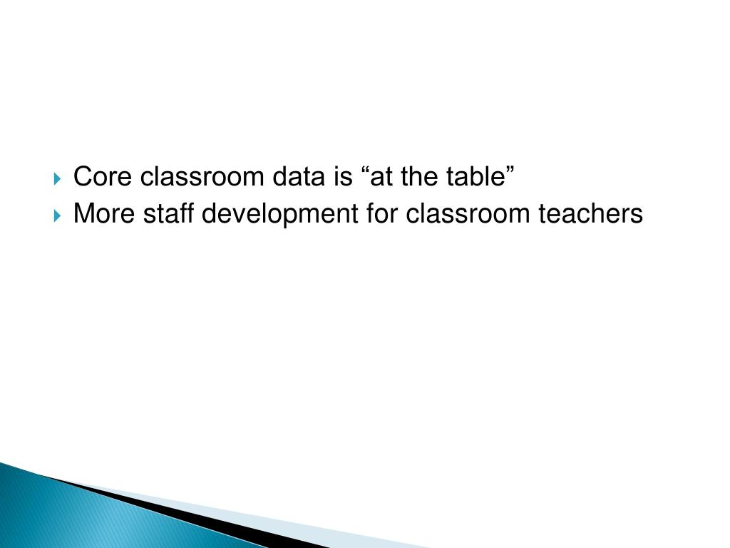"Core classroom data is ""at the table"""