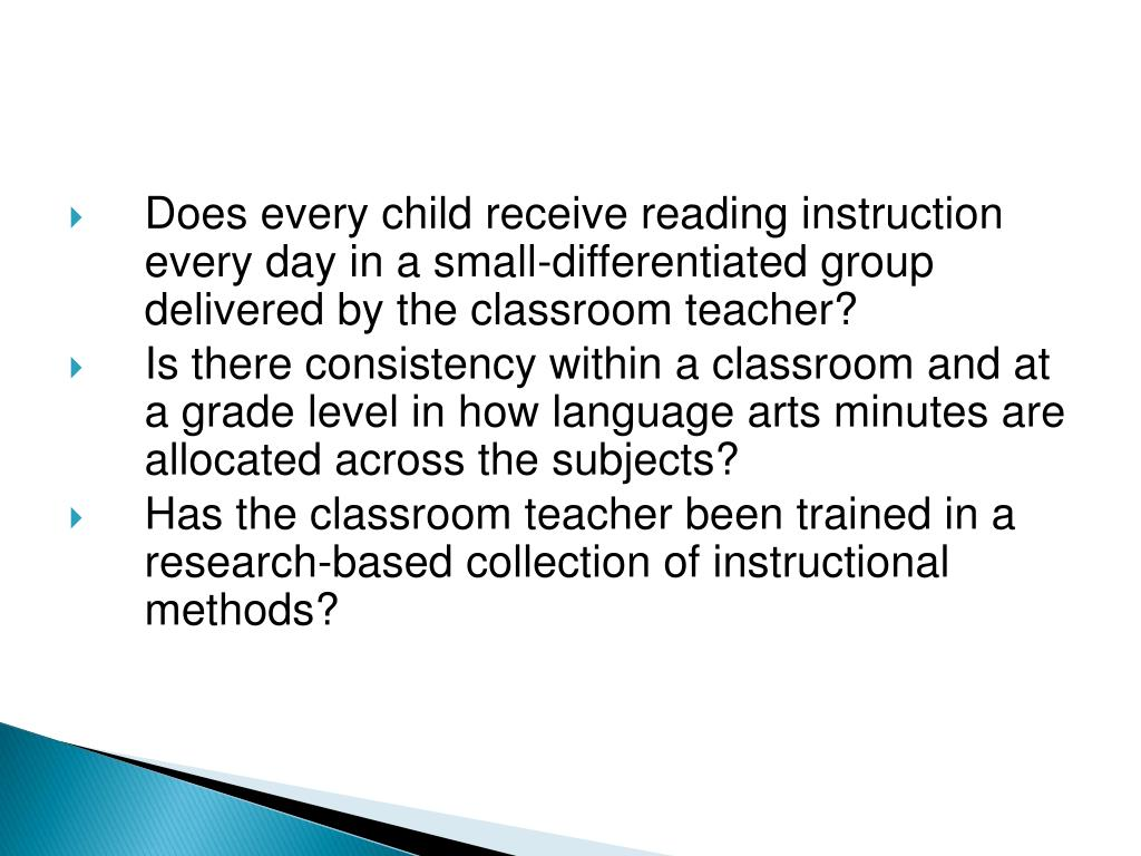 Does every child receive reading instruction every day in a small-differentiated group delivered by the classroom teacher?