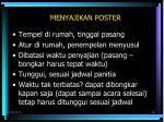 menyajikan poster