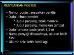 menyiapkan poster