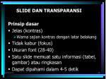 slide dan transparansi
