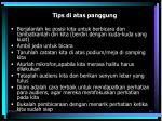 tips di atas panggung