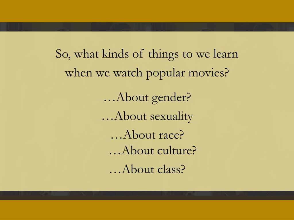 So, what kinds of things to we learn
