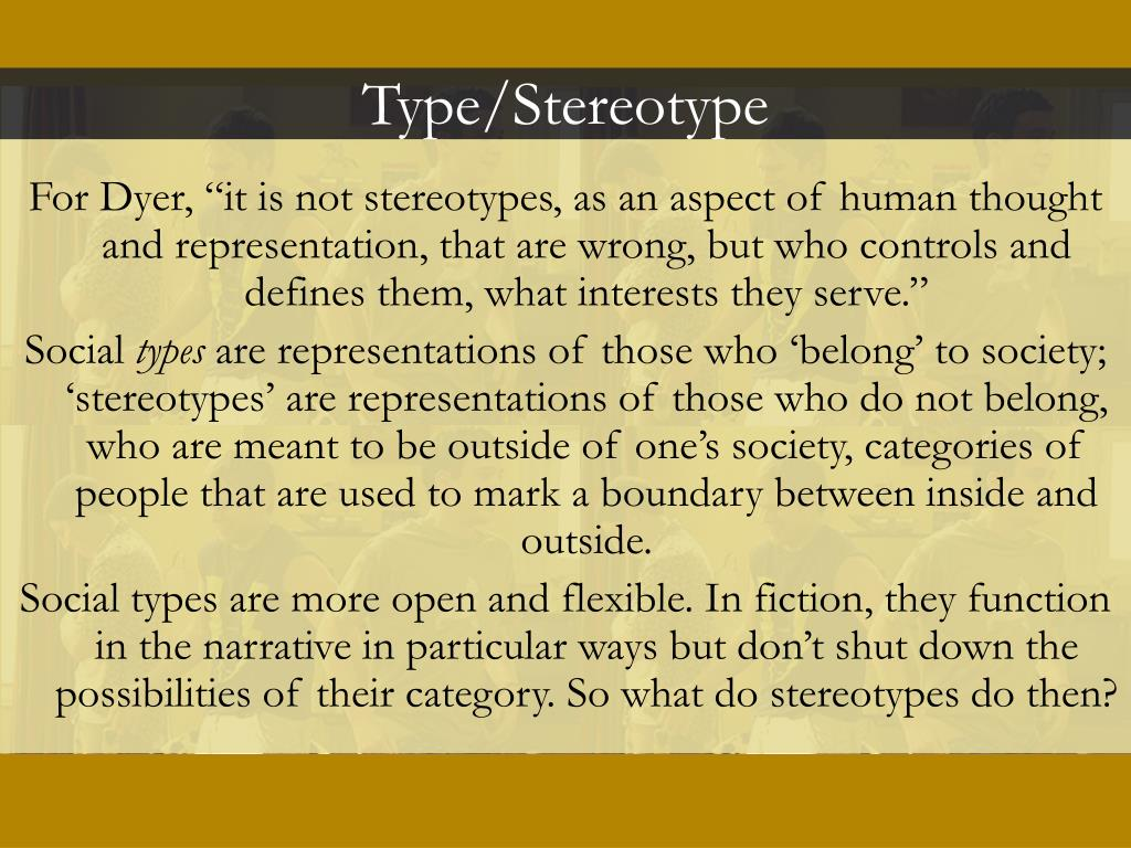Type/Stereotype