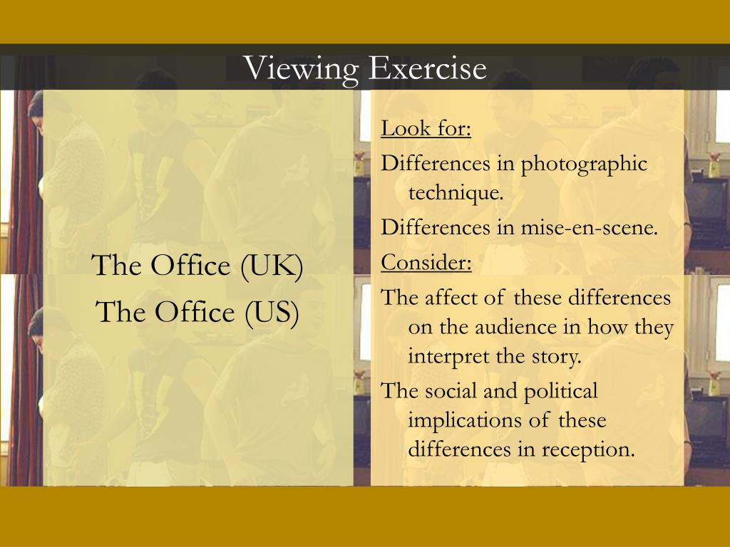 Viewing Exercise