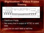 digitization video frame timing
